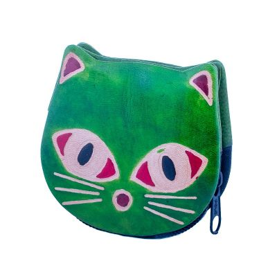 Wallet Kitty - green