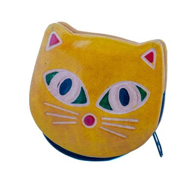 Wallet Kitty - yellow