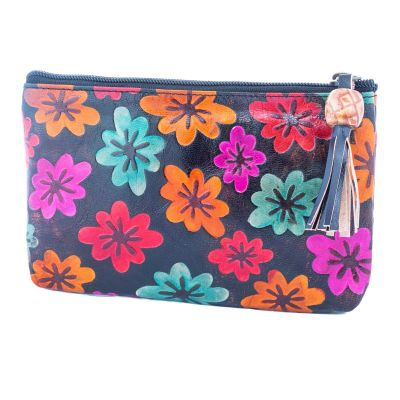 Wallet Flowers - black