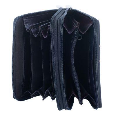 Leather wallet Samira - black