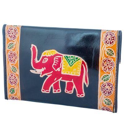 Leather wallet Elephant 3in1 - black