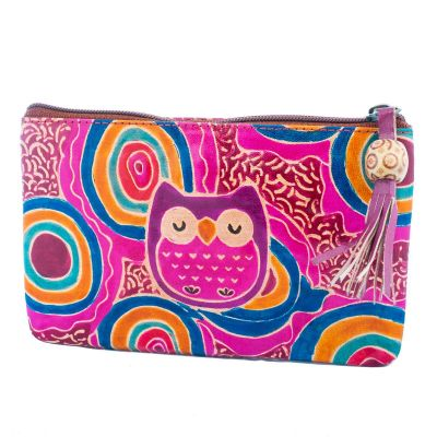 Wallet Owl - purple