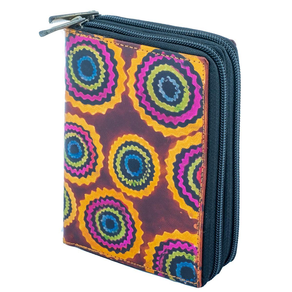 Leather wallet Yauvani - burgundy