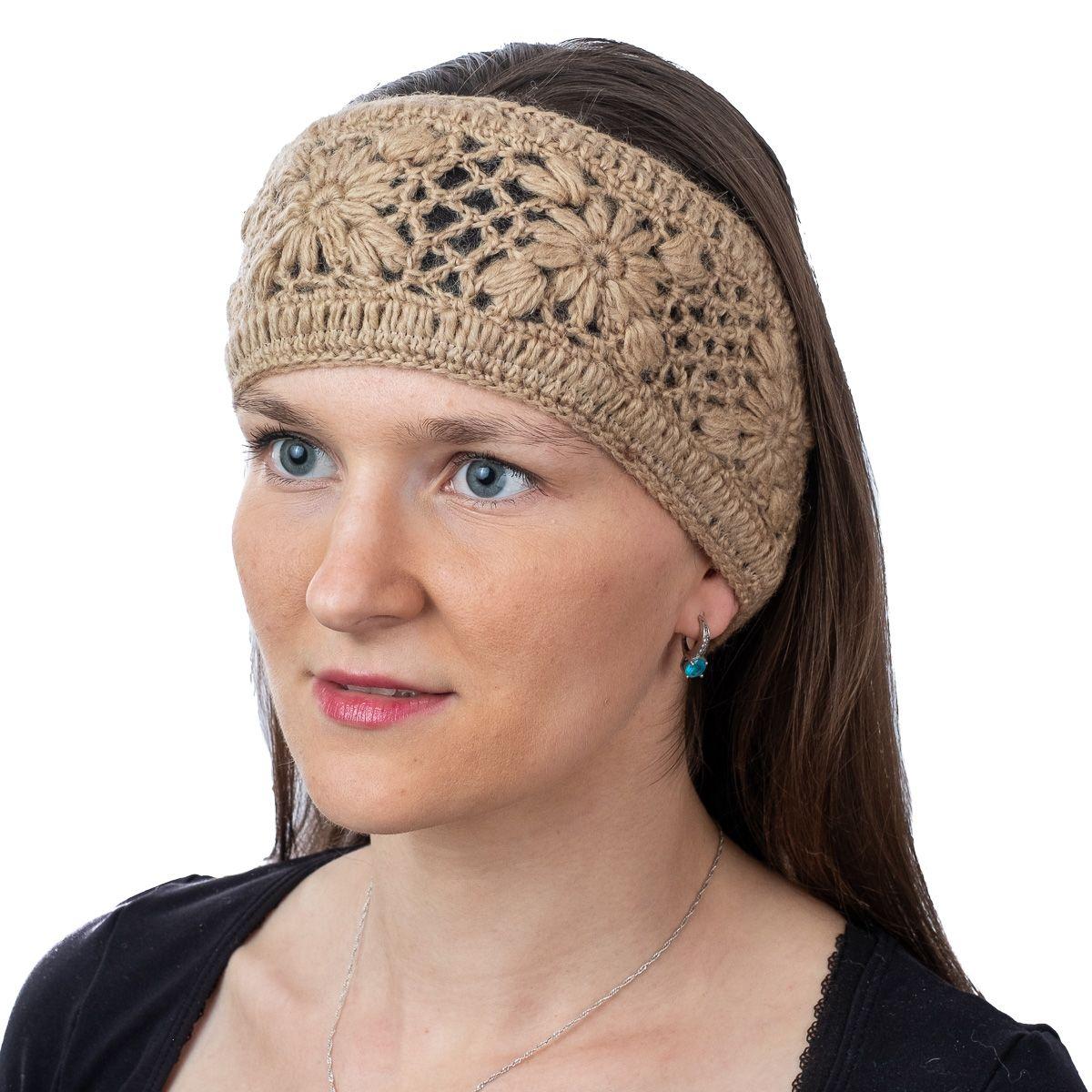 Woolen hairband Bardia Beige