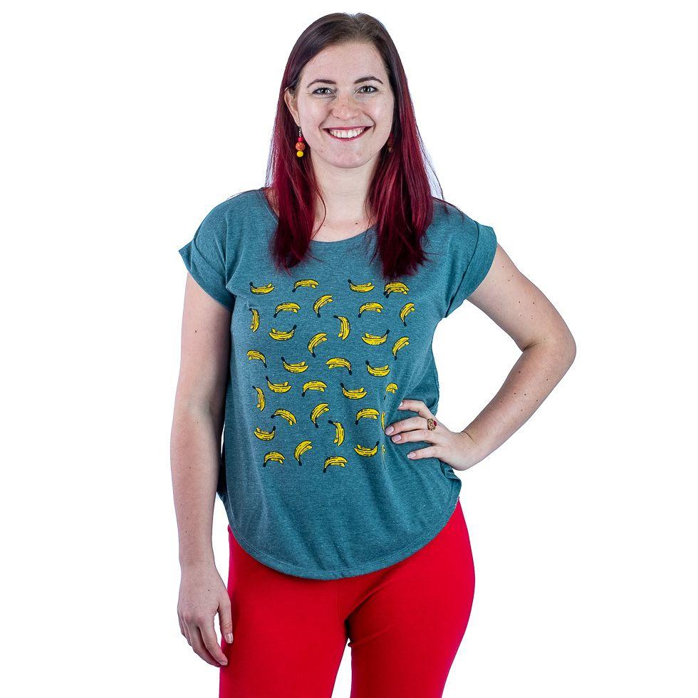 Short sleeve lady T-shirt Darika Bananas Green Thailand