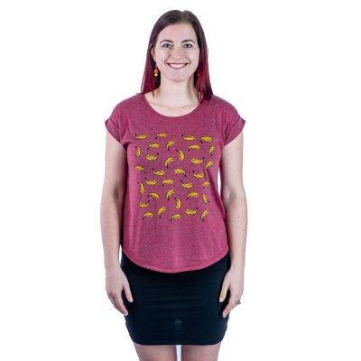 T-shirt Darika Bananas Burgundy