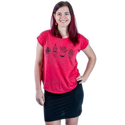T-shirt Darika Cacti Red