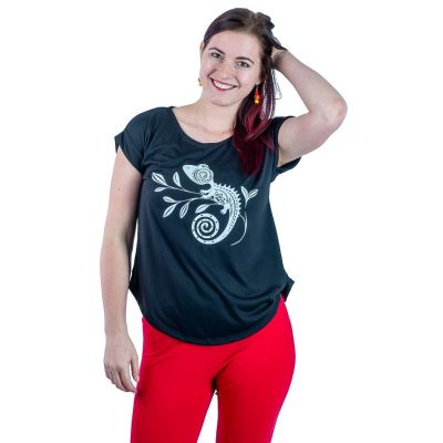T-shirt Darika Chameleon Black