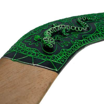 Decorative boomerang Green Lizard