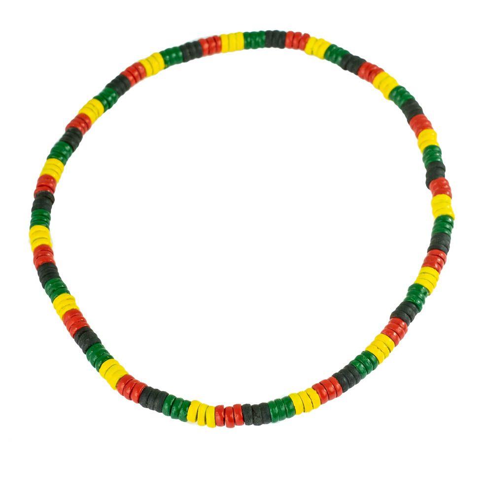 Bead necklace Rasta Periang