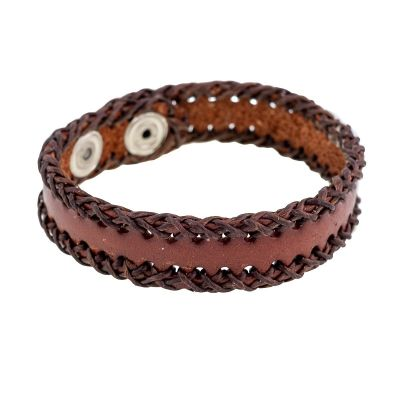 Bracelet Menjahit Kecil Brown