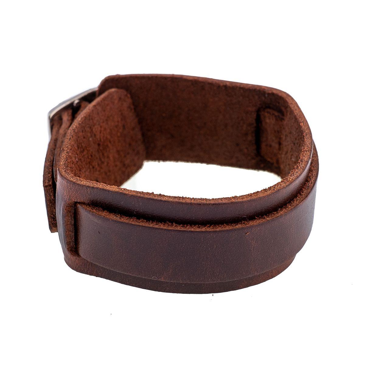 Leather bracelet Paras Brown