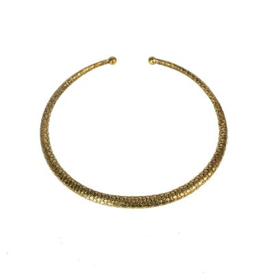 Brass necklace Eleonore