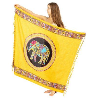 Sarong Elephant yellow