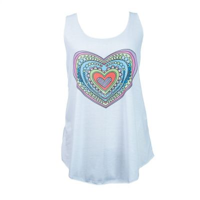 Tank top Darika Cartoon Heart White