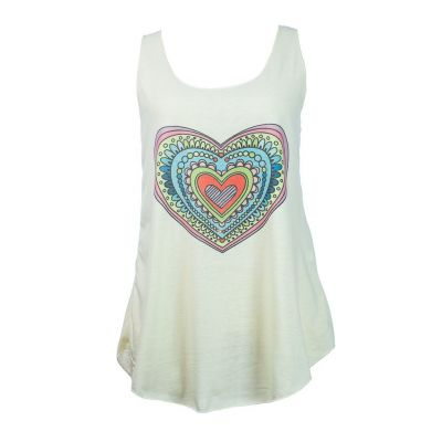 Tank top Darika Cartoon Heart Yellowish