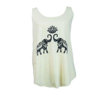 Tank top Darika Spiritual Elephants Yellowish