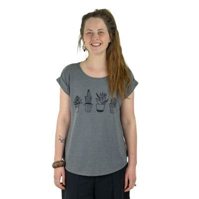 T-shirt Darika Cacti Dark Grey