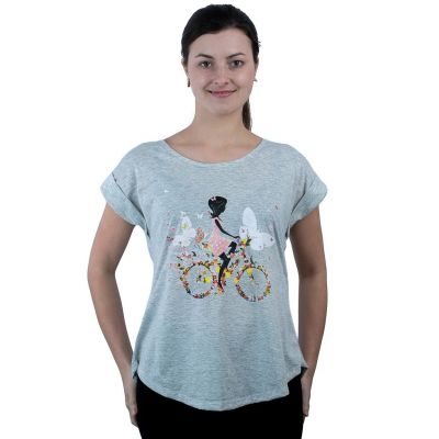 T-shirt Darika Fragrant Bike Grey