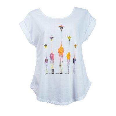 T-shirt Darika Giraffe Family Multicolour