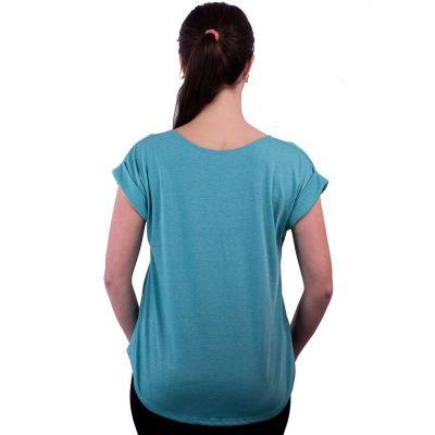 Short sleeve lady T-shirt Darika Octopus Turquoise