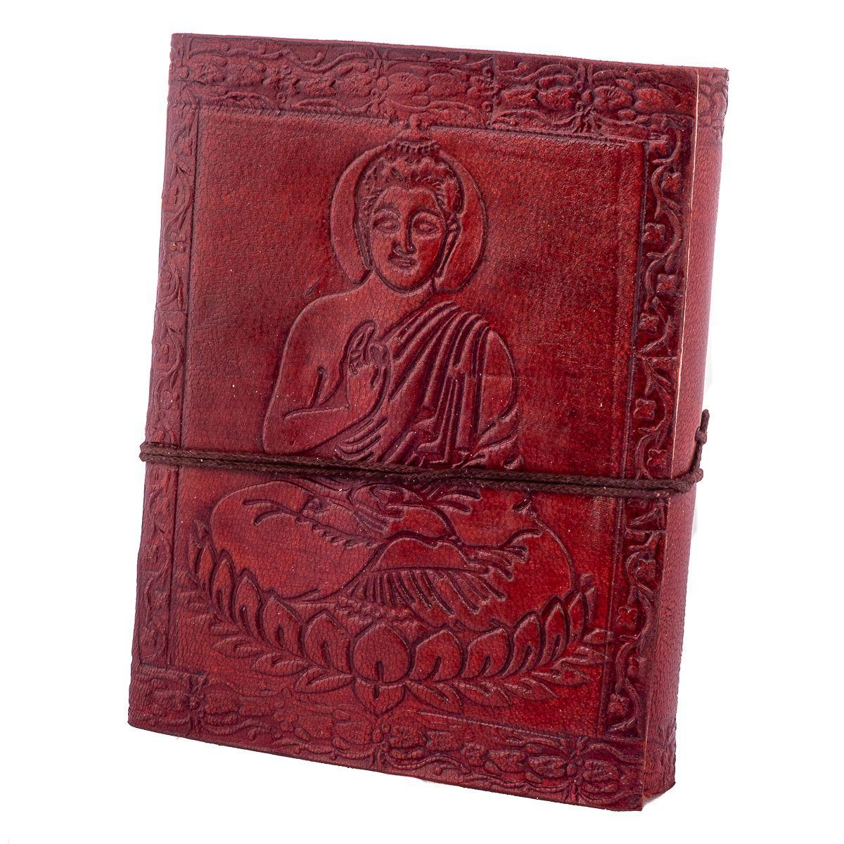 Leather notebook Buddha India