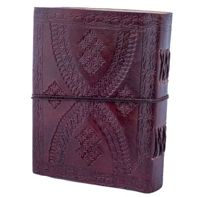 Leather notebook Flower of Life India