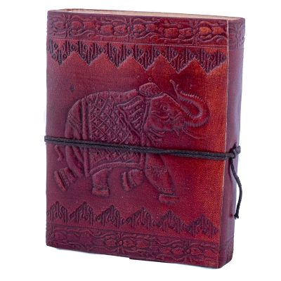 Leather notebook Elephant India