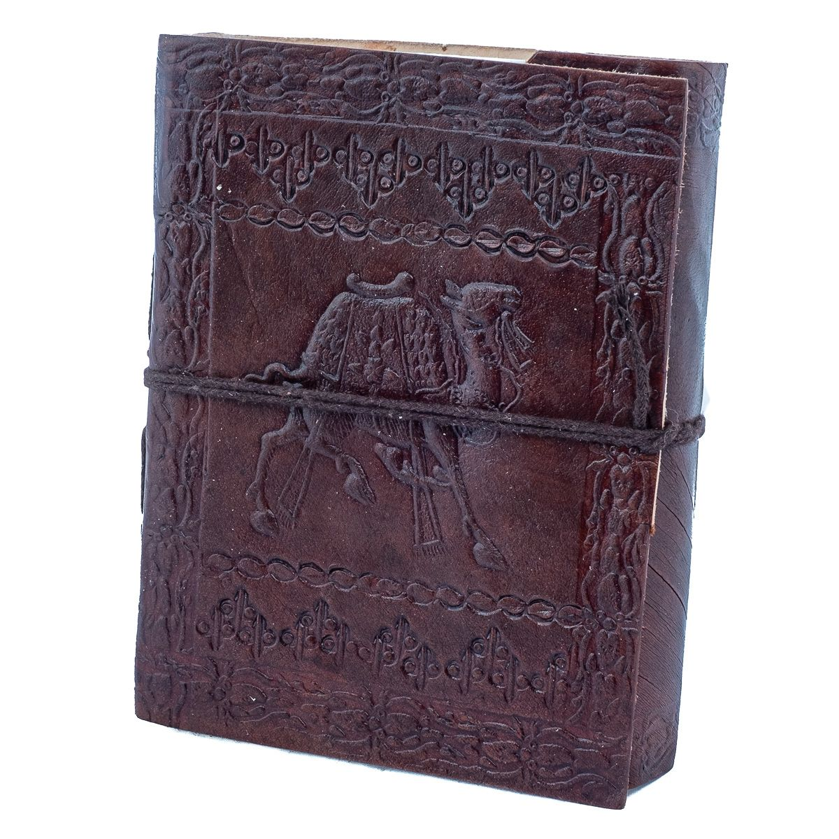 Leather notebook Camel India