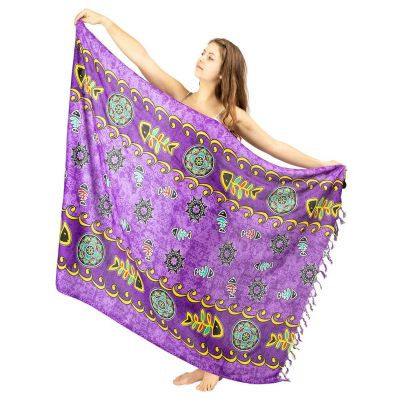 Sarong Fishbone purple