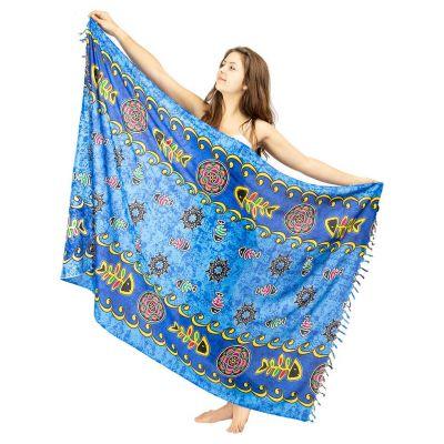 Sarong Fishbone blue