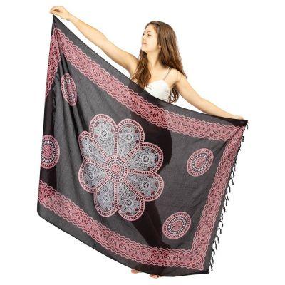 Sarong Flower Mandala black