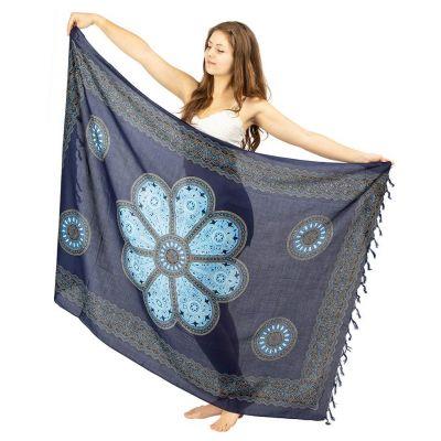 Sarong Flower Mandala blue