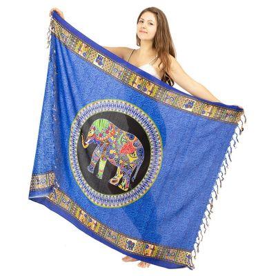 Sarong Elephant blue