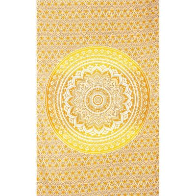Bed cover Mandala – beige-yellow