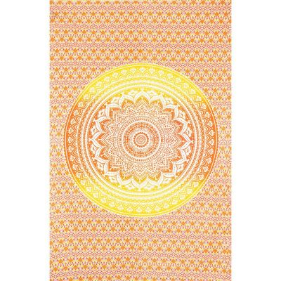 Bed cover Mandala – red-yellow