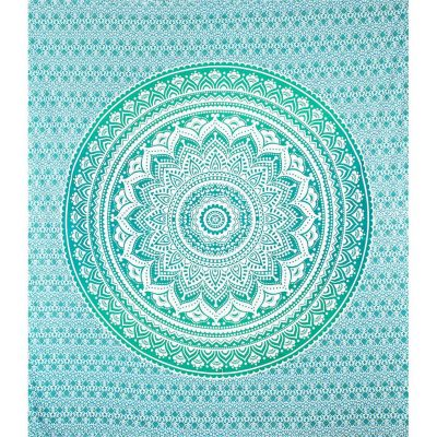 Bed cover Mandala – green-turquoise