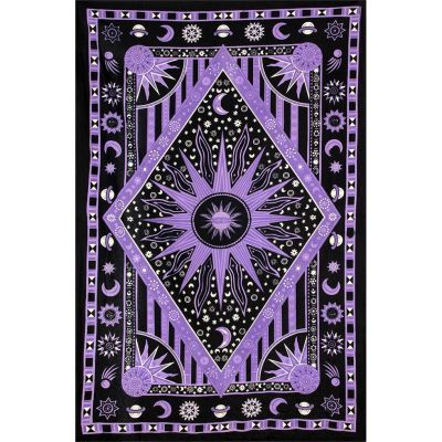 Bed cover Space – purple 1