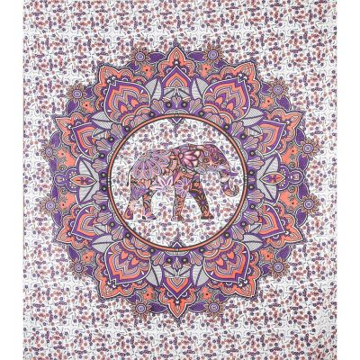 Bed cover Elephant Mandala – pink-purple