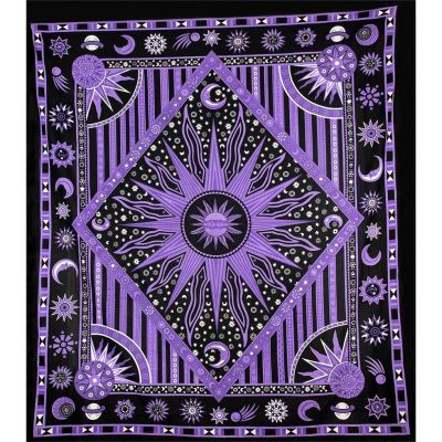 Bed cover Space – purple 2