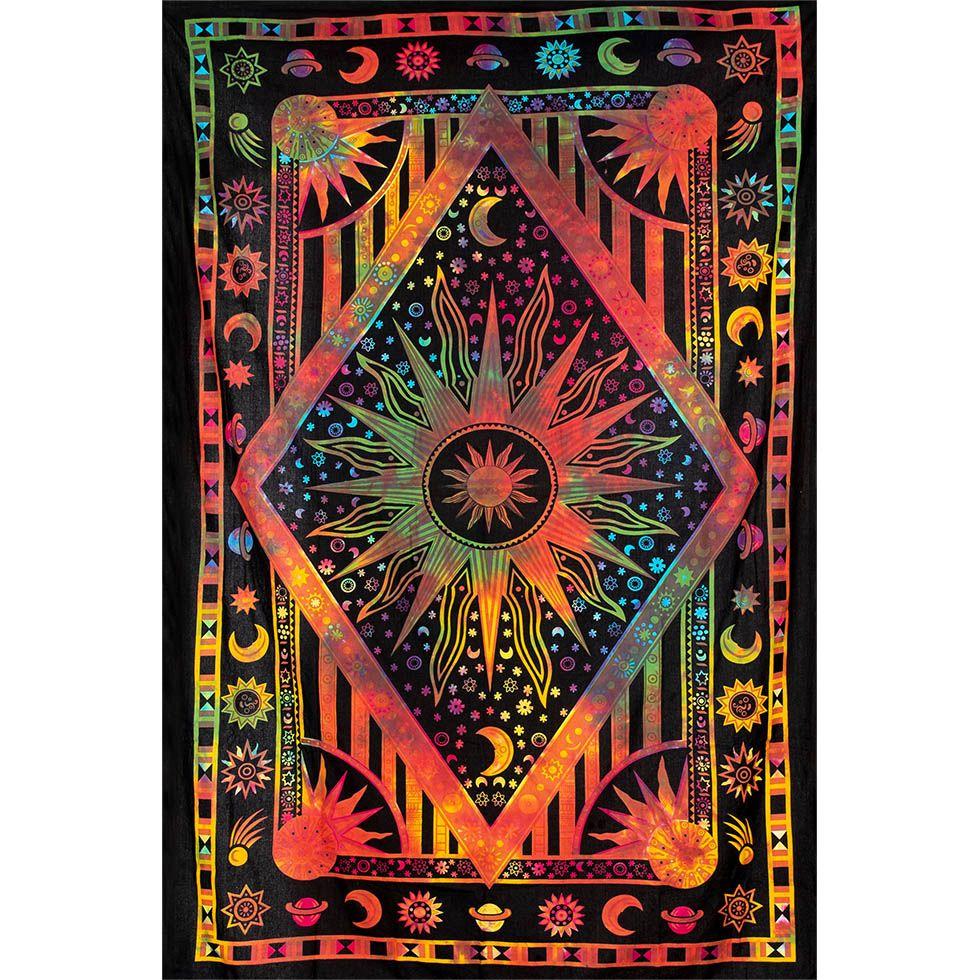 Cotton bed cover Space – multicolour 1 India