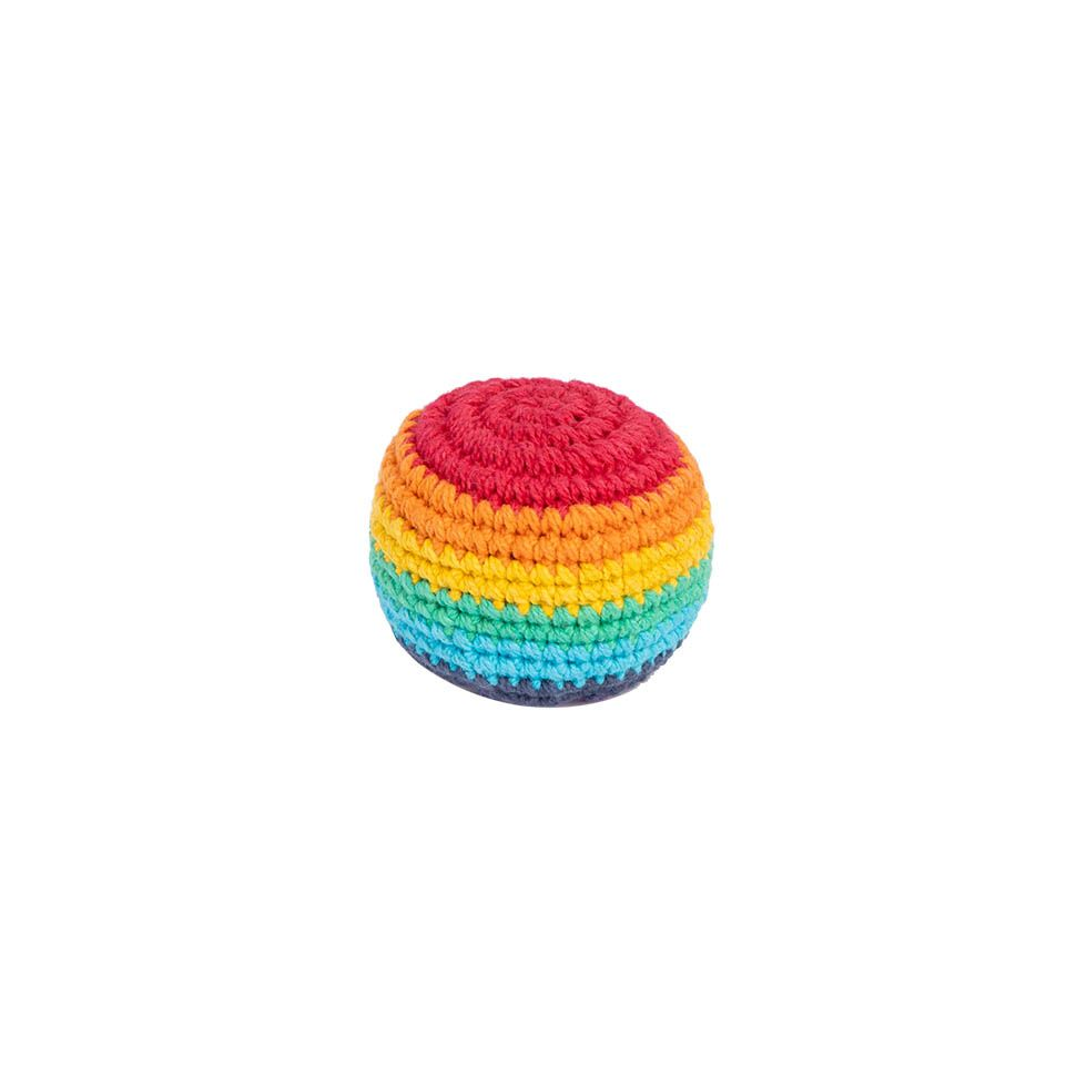 Crocheted hacky sack – Rainbow Nepal