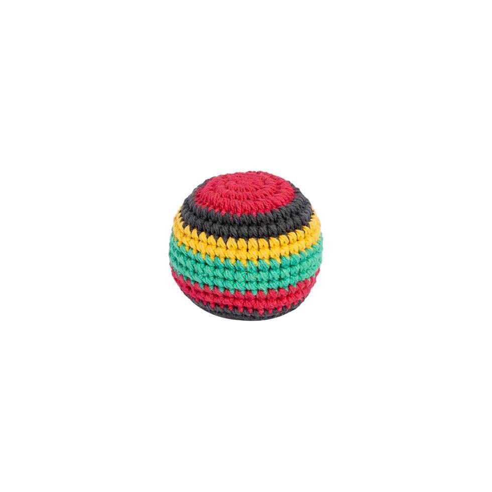 Crocheted hacky sack - Rasta Nepal