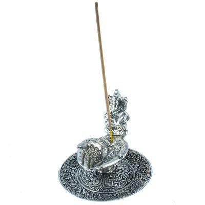 Metal incense holder Palms and Ganesh