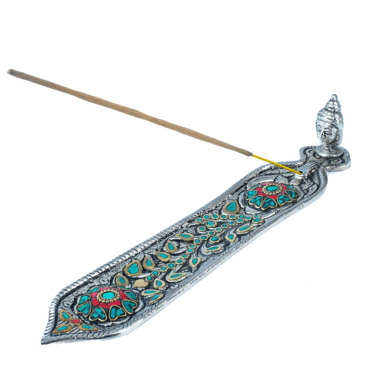 Metal incense holder Buddha's head – turkit India