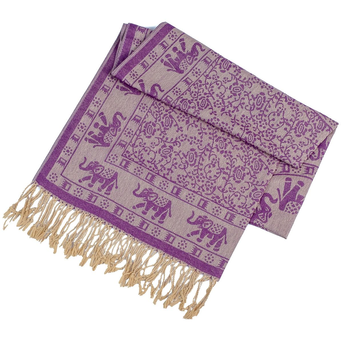 Pashmina scarf Jammu Ungu Thailand