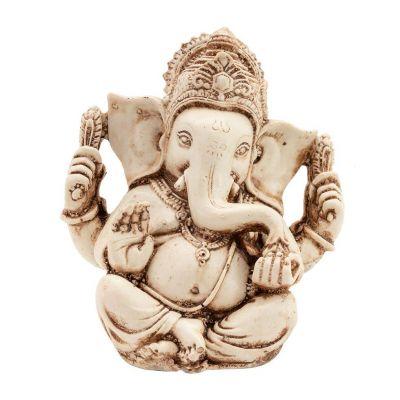 Statuette White Ganesh