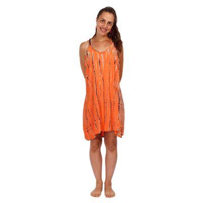 Tie-dye dress Gajra Orange   UNI