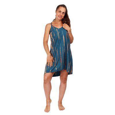 Tie-dye dress Gajra Petrol Blue | UNI