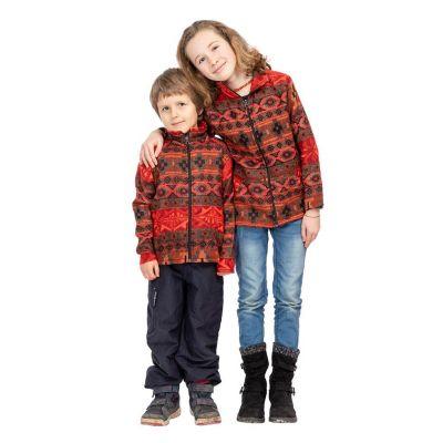 Ethnic children's jacket Sanjona Merah | 2 - 4 years, 4 - 6 years, 6 - 8 years, 8 - 10 years, 10 - 12 years